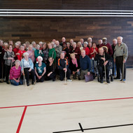 Floor curling at Mill Woods Seniors